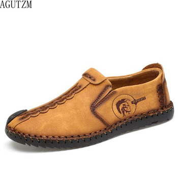 2018 zapatos casuales cómodos a la moda mocasines zapatos de hombre zapatos de cuero con división de calidad zapatos de hombre Venta caliente mocasines zapatos Q78