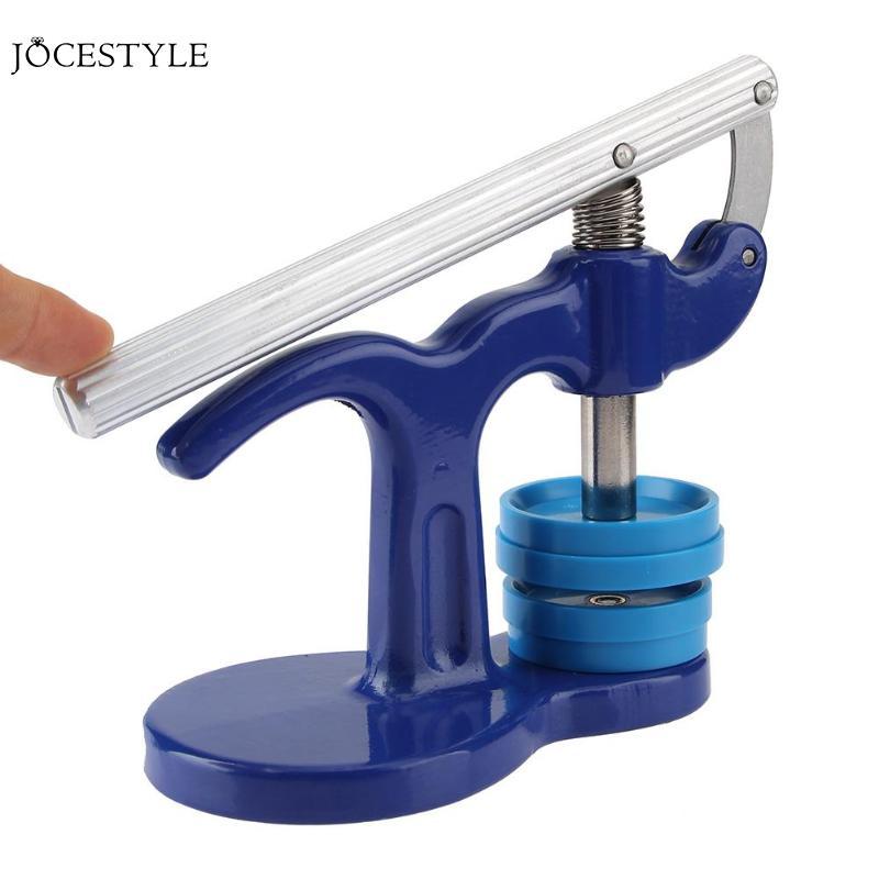 Uhr Lünette Einsätze Uhr Werkzeuge Uhr Zurück Uhrmacher Presse Reparatur Tools Kit Uhren Fall Kristall Glas Presse Werkzeuge Set