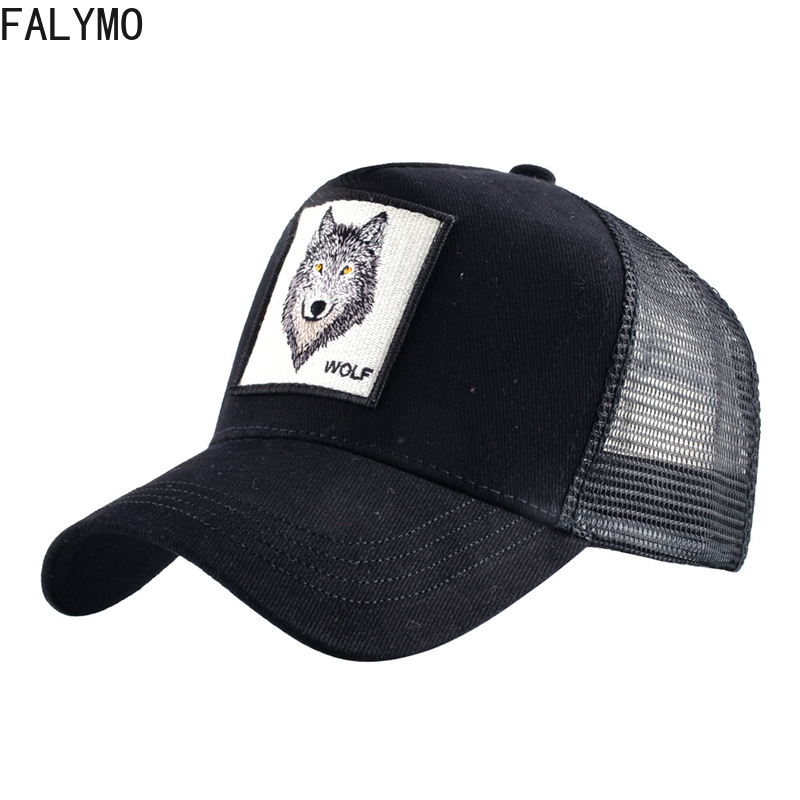 Mesh   Baseball     Cap   Men Women Animal Wolf Snapback   Caps   Dad Hat Summer Bone Hip Hop Streetwear Sports Beach Sun Hats Trucker Visor