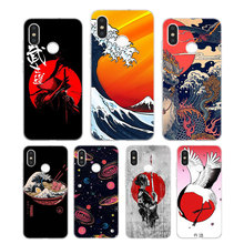 Silicone Phone Case Great Ramen Wave Japan Printing for Xiaomi Mi 6 8 9 SE A1 5X A2 6X Mix 3 Play F1 Pro 8 Lite Cover 3 day pass f1 japan 2017