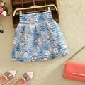2017 mujeres del verano del resorte del organza nueva moda raya delgada cinta de cintura alta mujeres faldas burbuja falda del vestido de bola