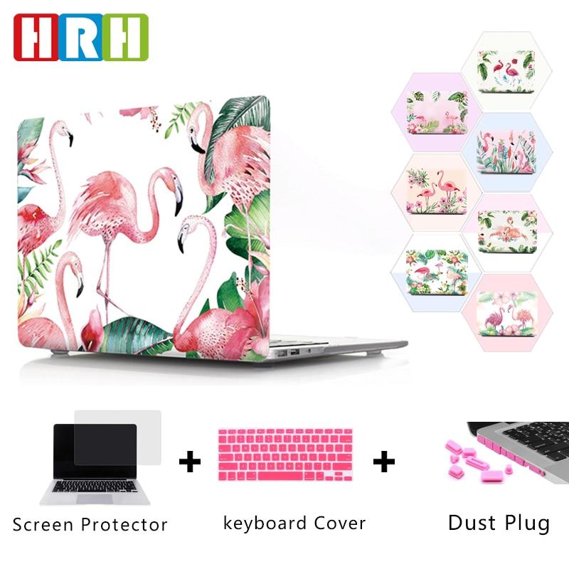 HRH Fashionable Flamingos Design PC Laptop Body Shell Hard Case for Macbook Pro Retina 13 12 15 Air 11 Touch Bar A1989 A1990 flamingos print blanket 1 pc