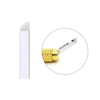 500 Pcs 0.25mm 7 9 12 14 15 16 18 21 Microblading Needle Eyebrow Tattoo Blades 3D Embroidery For Permanent Makeup Manual Pen