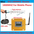 Full Set Mini 70db LCD 2G 4G LTE DCS 1800MHz Mobile phone cell phone signal repeater booster amplifier with 13db yagi antenna