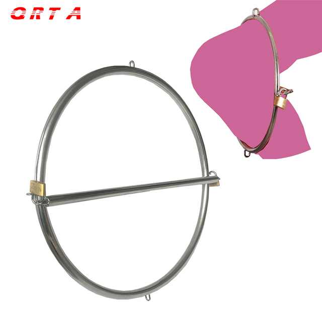 QRTA Hips Waist Bondage Hanging Ring Sex Love Slave Restraints Tools Sex toys Adults For Couples Stainless Steel Fetish Legcuffs