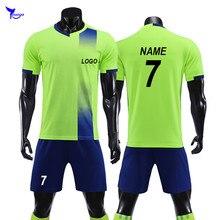 b4d3722ab37c6 Personnalisé Enfants Adulte 2019 ensemble maillot de Football Football  Survetement Survêtement Kits Hommes Garçons Futbol uniformes