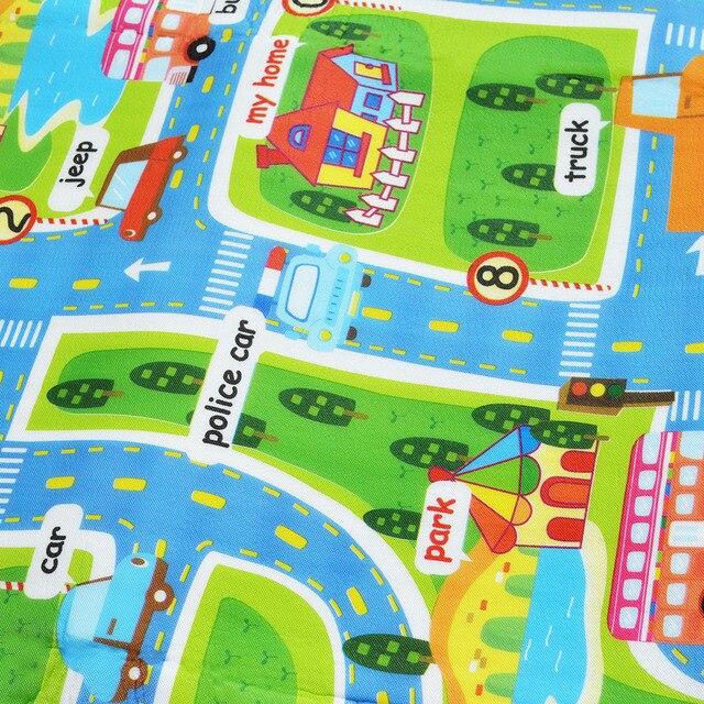 0.5 cm gruby miasto ruch miejski mata dla niemowlęcia pianka EVA wspinaczka Pad zielona droga mata do zabawy dla dzieci dywan dla dziecka