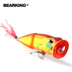 7cm 11g Bearking New 1PC popper Arrival Hot Sale Minnow Hard Fishing Lure Bait 2017 hot Fishing Tackle Artificial Lures Bait