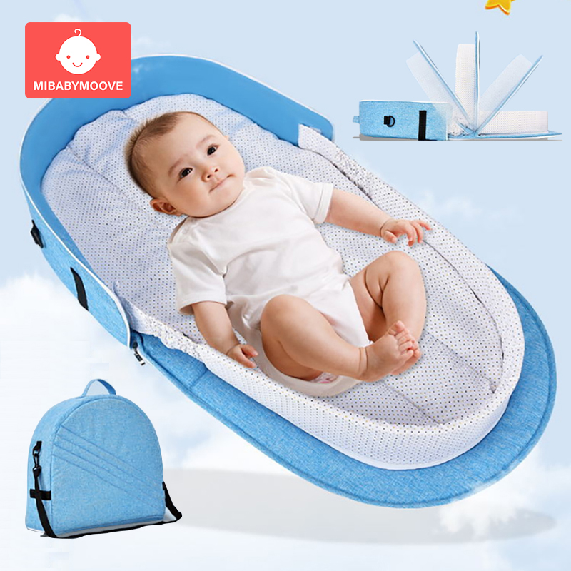 Foldable Baby Portable Bed Bag Multifunctional Newborn Travel Crib Mummy Bags Carry on Nest Bed Infant