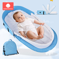 Foldable Baby Portable Bed Bag Multifunctional Newborn Travel Crib Mummy Bags Carry on Nest Bed Infant Diaper Bag Folding Bed