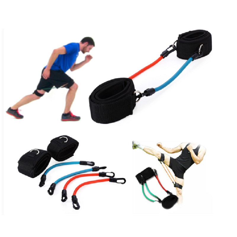 Kinetic Speed Agility Training Leg Running Resistance Bands Tubes Exercise For Athletes Football Basketball Players Workout