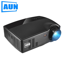 AUN Proyector HD PH10, 3500 Lúmenes Proyector LED, (Opcional Android 6.0 Proyector, Bluetooth WIFI) Multimedia de Vídeo Full HD LCD TV