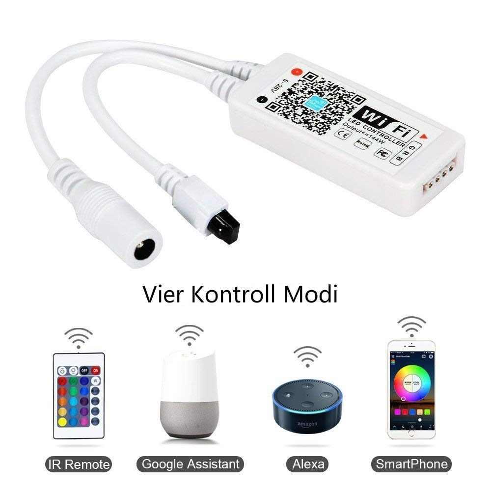 5050 taśma LED RGB bezprzewodowy WiFi taśma LED 5 M 10 M 15 M zestaw 12 V 150 diody LED wodoodporna elastyczna lina światło + kontroler WiFi + zasilacz