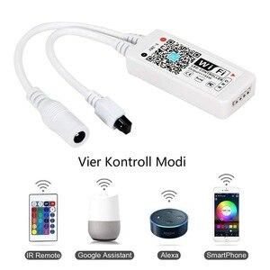 Image 3 - Ruban lumineux RGB 5050 sans fil + contrôleur WiFi + alimentation, LED, WiFi LED bande lumineuse Flexible étanche, 5M 10M 15M, 12V LED 150 s, led