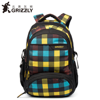 GRIZZLY New Fashion Laptop Backpack Men For Teenager Boys Multifunction Mochila Waterproof School Bags Large Capacity