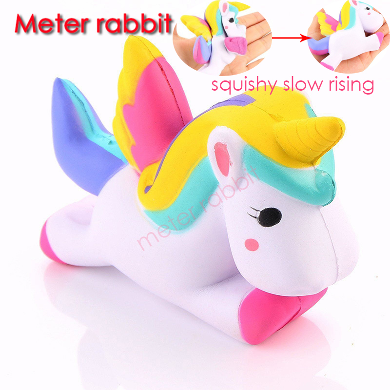 Squishy Toys Pony : new 13.5CM Flying Unicorn squishy slow rising Pony Horse squishy Squeeze Toys Doll Fun ...