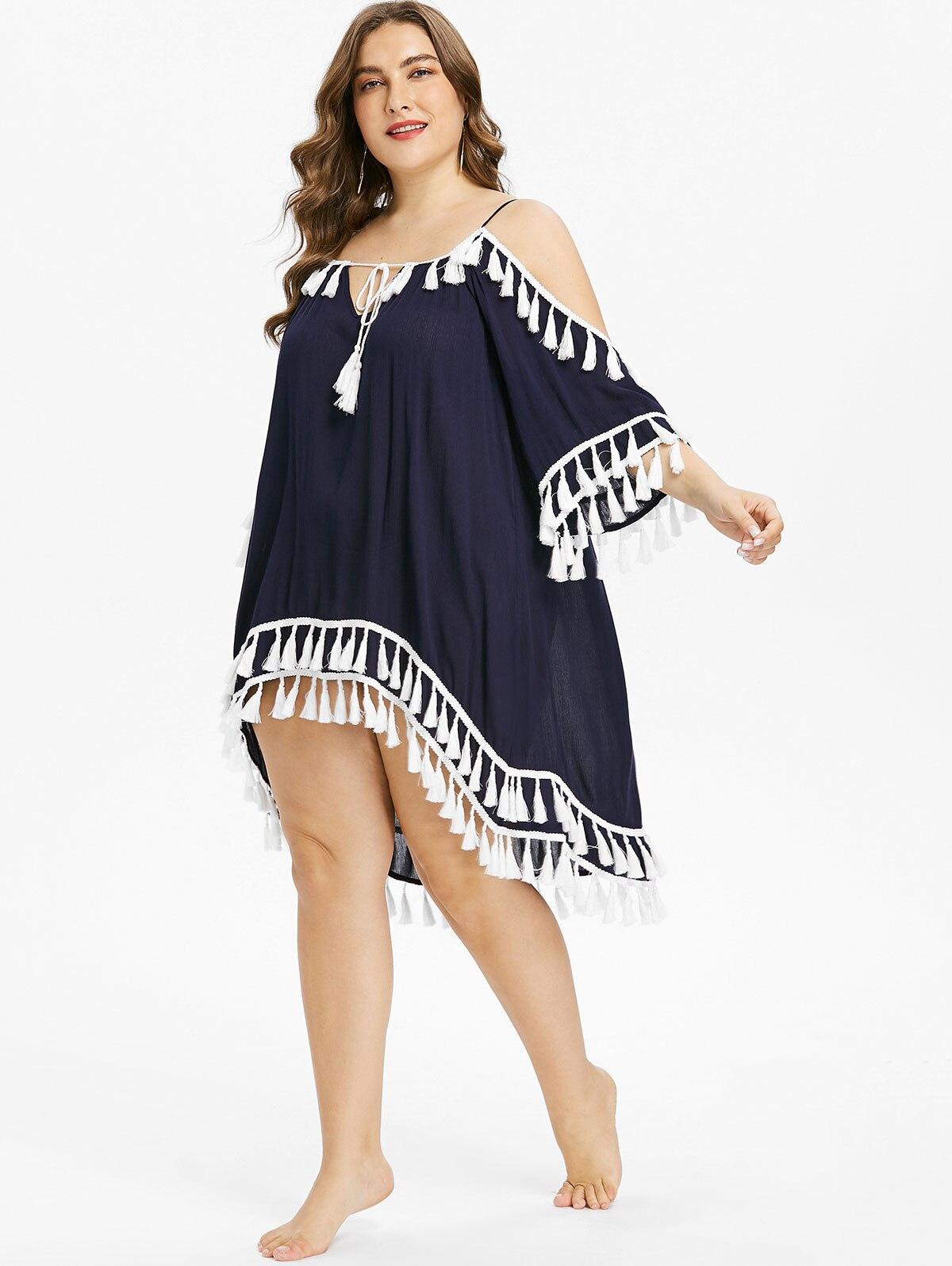 La Gland Gamiss Up Mini Robe Deep cou Robes Couvert À Plage Flare Froid Épaule Manches De Plus Blue Halter Femmes Haute Faible V Taille 5jL4RA