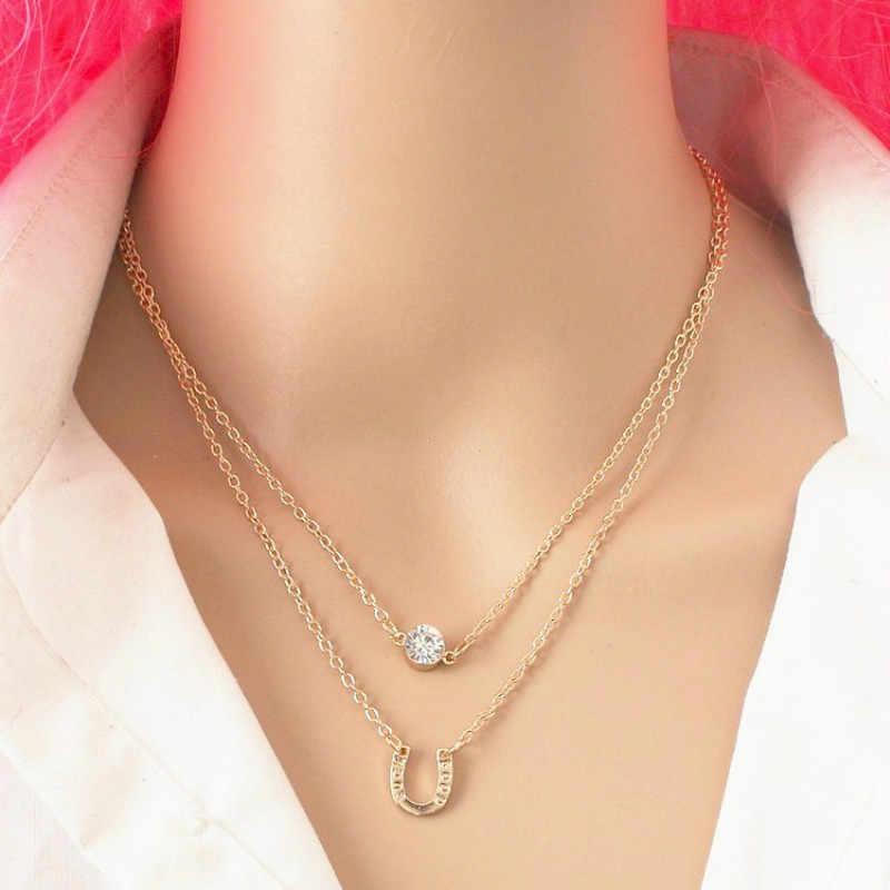 Thời trang Cá Tính Giản Dị Infinity Chữ Thập Lariat Pendant Màu Vàng và Màu bạc Chokers Vòng Cổ nữ trang sức
