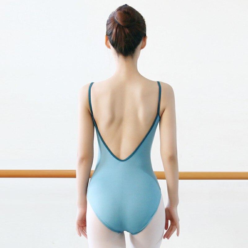 Ballet Leotards For Women Bailarina Gymnastics Leotards Adult Ballet Dance Wear Spandex Sling Sexy Black Backless Dance Leotards