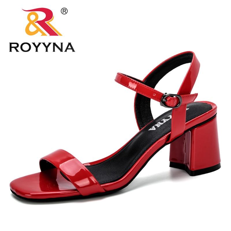 Женские удобные сандалии ROYYNA, Летние повседневные сандалии с открытым носком на толстой танкетке, 2019|Боссоножки и сандалии|   | АлиЭкспресс