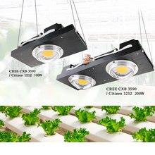Luz LED de cultivo CREE CXB3590 COB, espectro completo, 100W Citizen 1212, lámpara de Cultivo LED para tienda de interior, invernadero, flor de planta hidropónica