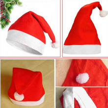 New years Christmas Party Santa Hats Red And White Cap Christmas Hat For Santa Claus Costume XMas Decoration for Adult Child