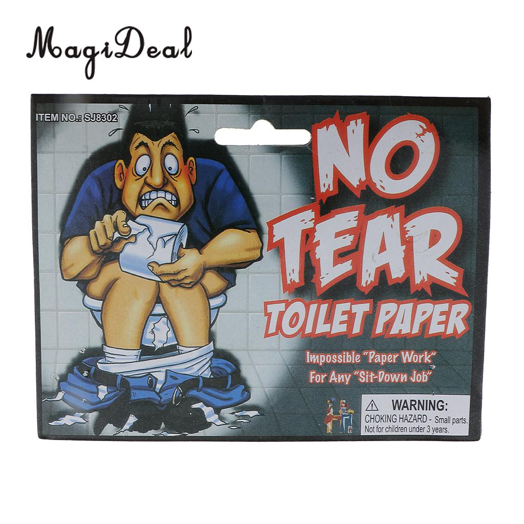 MagiDeal 1 Roll of No Tear Toilet Paper Look Feel Real Trick Party Joke Prank Prop Novelty Gift for Hen Night Birthday Occasion