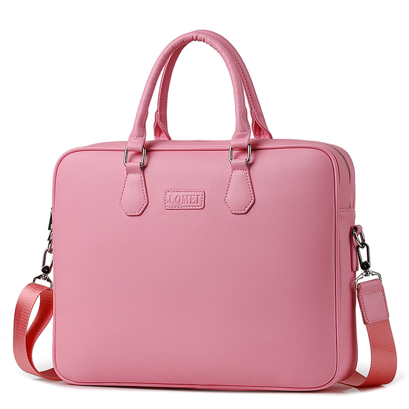 PU Waterproof Laptop Bag Girls Women 1415.6 Inch Fashion Notebook Computer Bag Should Message Women Bag