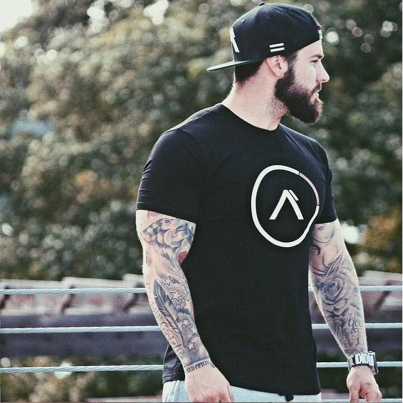 2018 Férfi katonai póló 2017 Men Star Laza pamut póló O-nyakú - Férfi ruházat