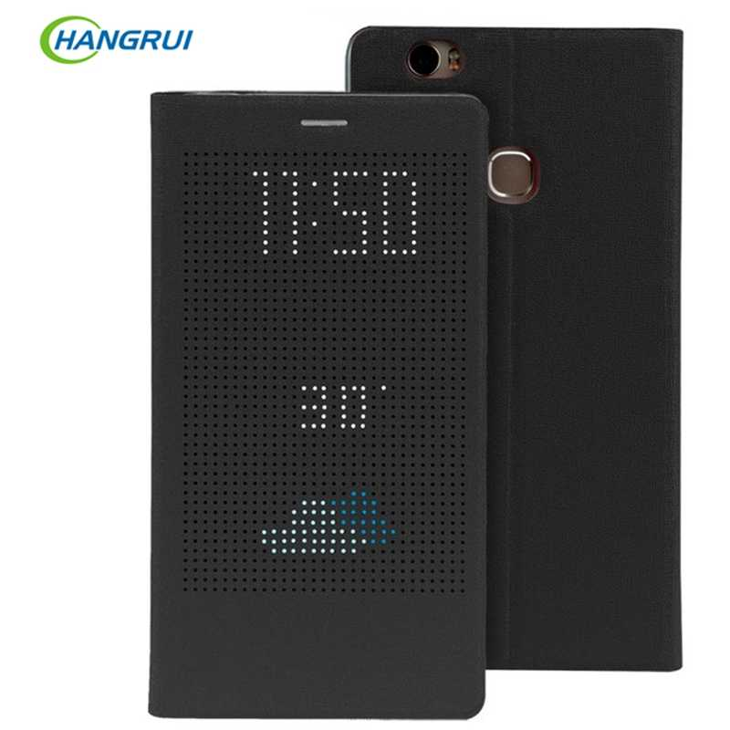 For Huawei Honor Note 8 Case Leather PU Smart Sleep Wake View Luxury Cover For Huawei P8 Max Original Grid Heat Stand Phone Case