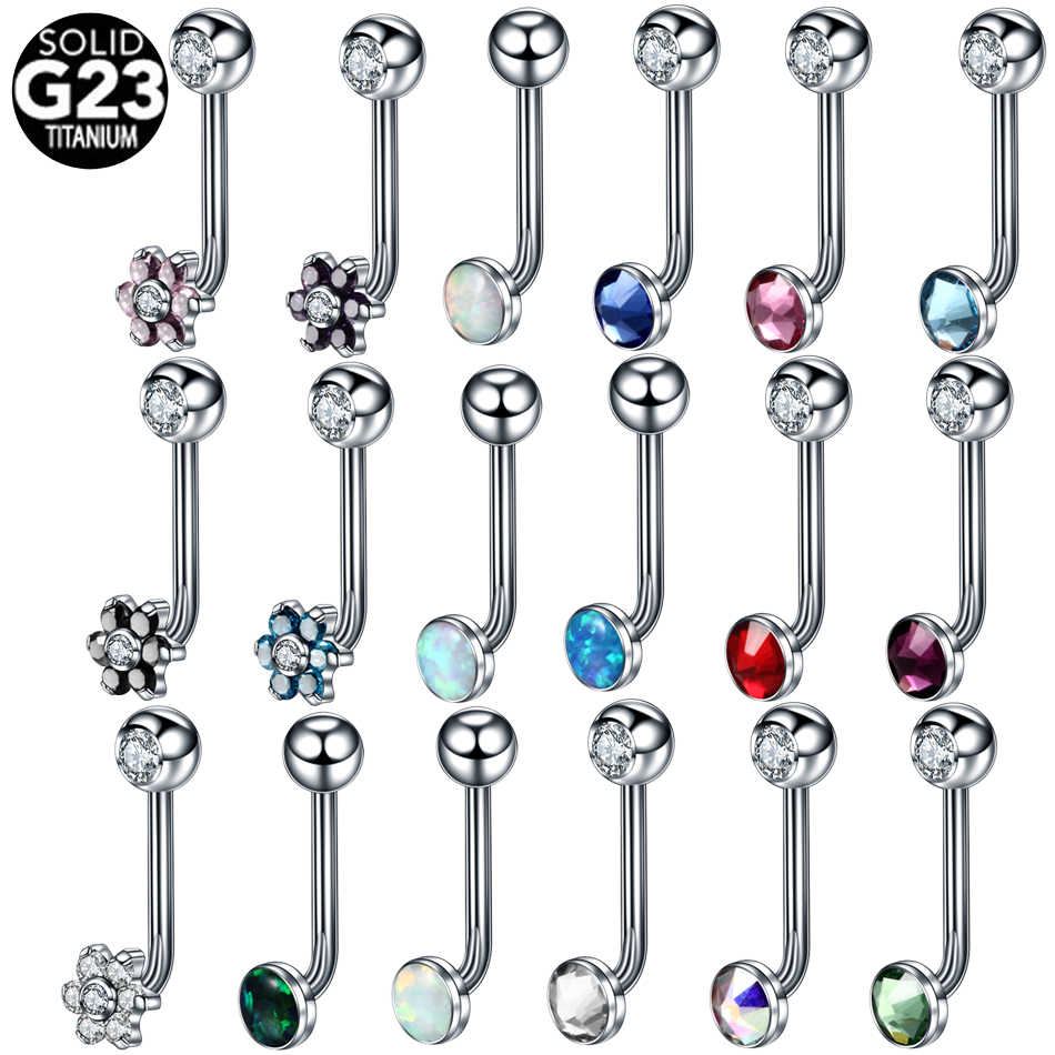 1PC G23 Titanium Crystal Gem Christina Vertical Hood Piercings Lip Rings  Sexy Vagina Piercings Genital Piercing