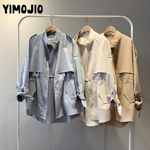 Image 4 - Trench coat Long Trench Spring coat women Casual Slim Trench coat for women Elegant Outside X long Skirt coat Streetwear Sweet