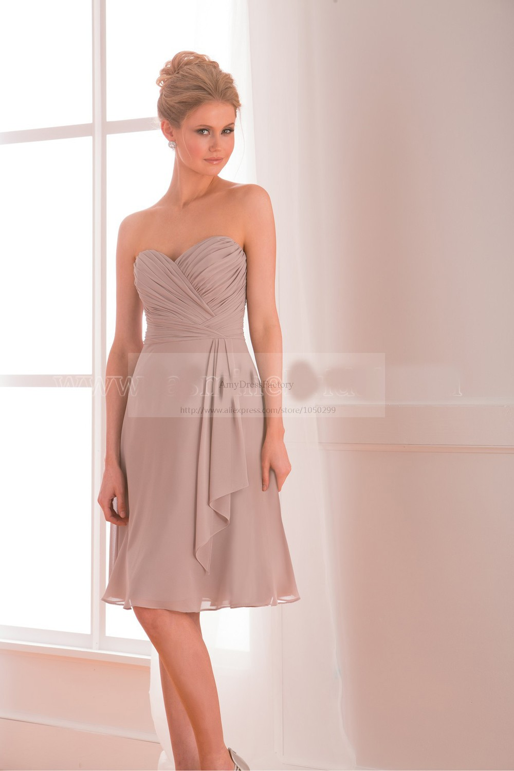 Best selling cheap chiffon bridesmaid dresses under 100 taupe sizemeasurecorrect size is very important or your dressplease check and offer ombrellifo Image collections