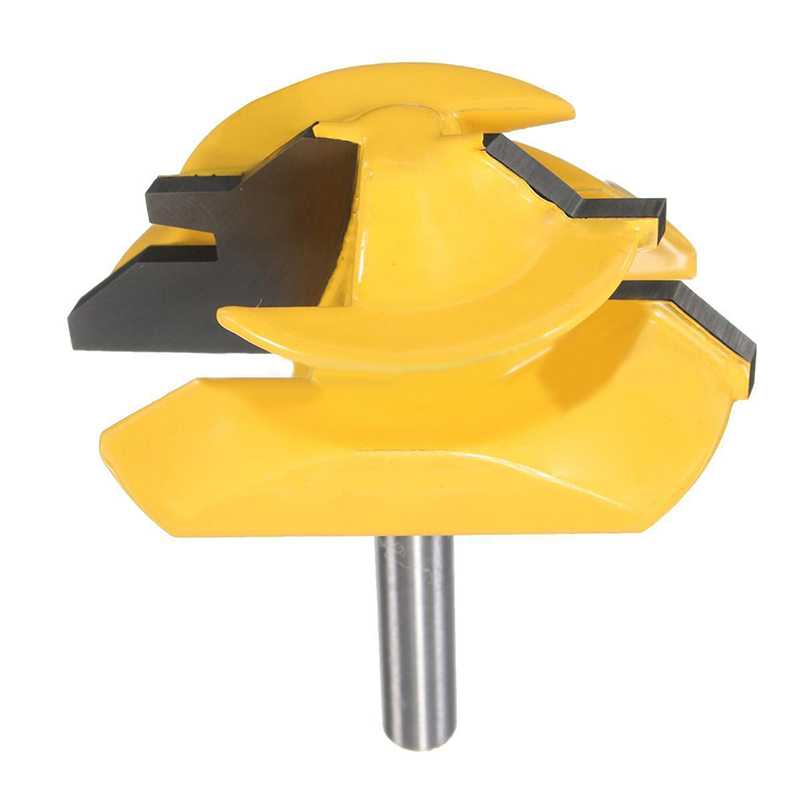 1pc High Quality Carbon Steel 45 Degree 1/4 Shank Tenon Medium Lock Miter Router Bit For Wood Cutter Tool 1pc 8mm shank high quality 45 degree chamfer