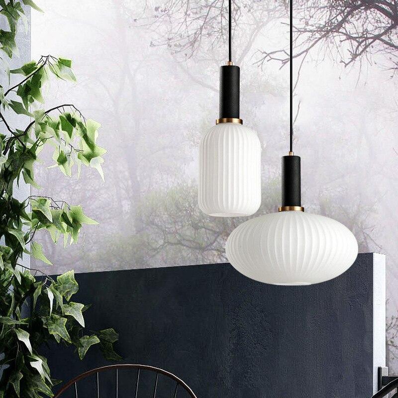 Nordic Restaurant Hanging LED Pendant Lights Modern Simplicity Free Combination Ins Style Droplight Bedroom Bar Bedside Lamp
