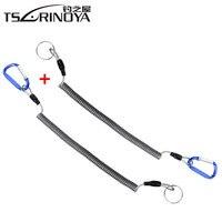 TSURINOYA 2Pcs Angeln Lanyards Retention Seil String mit Camping Karabiner Secure Lock Pesca Zubehör Angeln Werkzeuge Peche