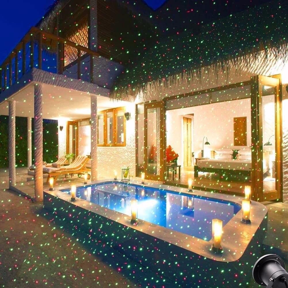 Tanbaby Outdoor Lawn Light Sky Star Laser Spotlight Projector ...