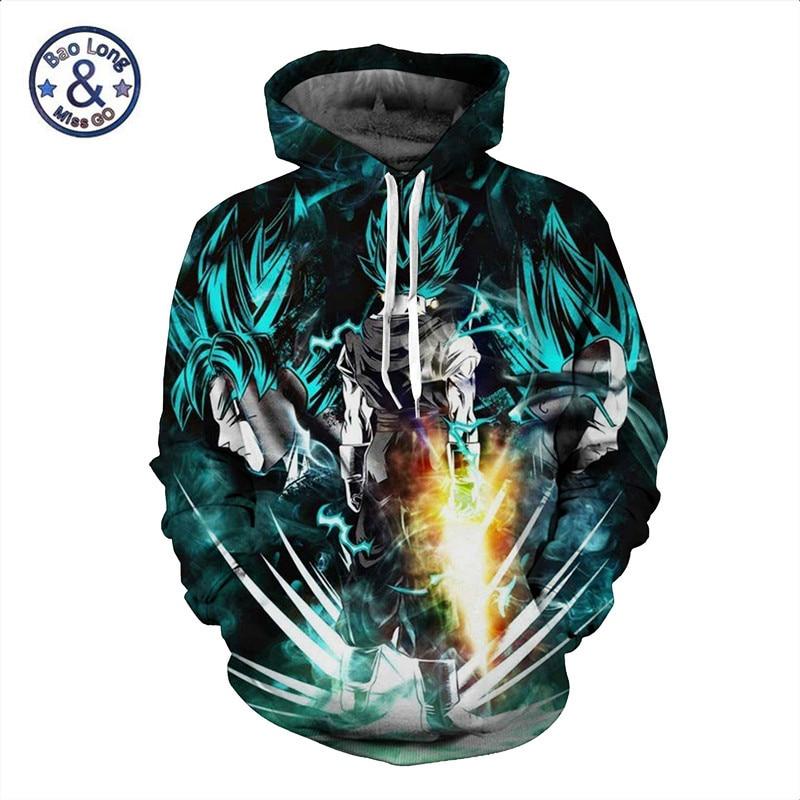 5xl anime dragon ball z dbz pocket hooded sweatshirts 3d