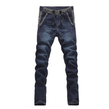 2016 winter men's thick classic High quality jeans,men's straight cotton jeans Pencil Pants Large size 28-42 Free shipping