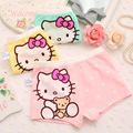 3 pieces/bag girl underwear cartoon hello kitty boxer briefs multi patterned colorful cute baby girls panties, 1-8 years old
