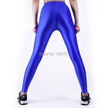 (LS3111)Shiny Lycra Spandex Opaque Tights Unisex original Fetish Zentai Leggings Pants