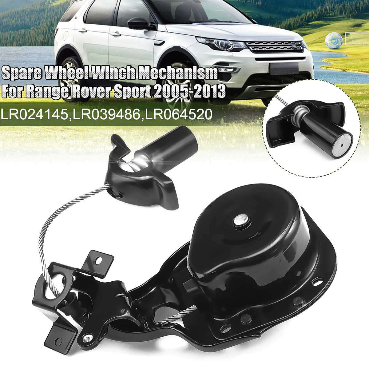 LR024145 Car Spare Tire Winch Spare Wheel Lift Winch For Land Rover Discovery 3 4 2004-2013 For Range Rover Sport 2005-2013