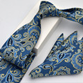Business Elegant Necktie And Pocket Square Suit Party Fashion Mens Neckwear Handkerchief Floral Striped Plaid Gravata