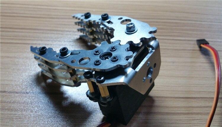 DIY Model Robotic Metal Mechanical Arm Accessories Hard Aluminum Alloy Paw Gripper Manipulator Clamp Parts For Robot d40mm setscrew hard alloy flex metal bellow coupling