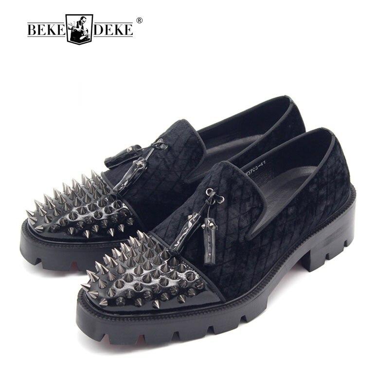 New Design Thick Bottom Rivets Formal Men Dress Shoes European Mens Footwear Runway Luxury Man Shoe Plus Size 11T 47 Heels 5 CM plus size textured pocket design dress page 5