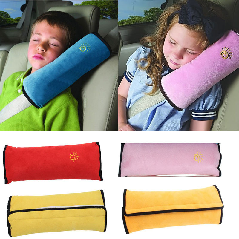 Baby Pillow Car Safety Strap Belt Seat Sleep Positioner Protect Shoulder Pad Cushion For Kids Baby Playpens Adjust Vehicle Seat