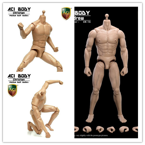 ФОТО 1/6 figure doll muscular body for 12