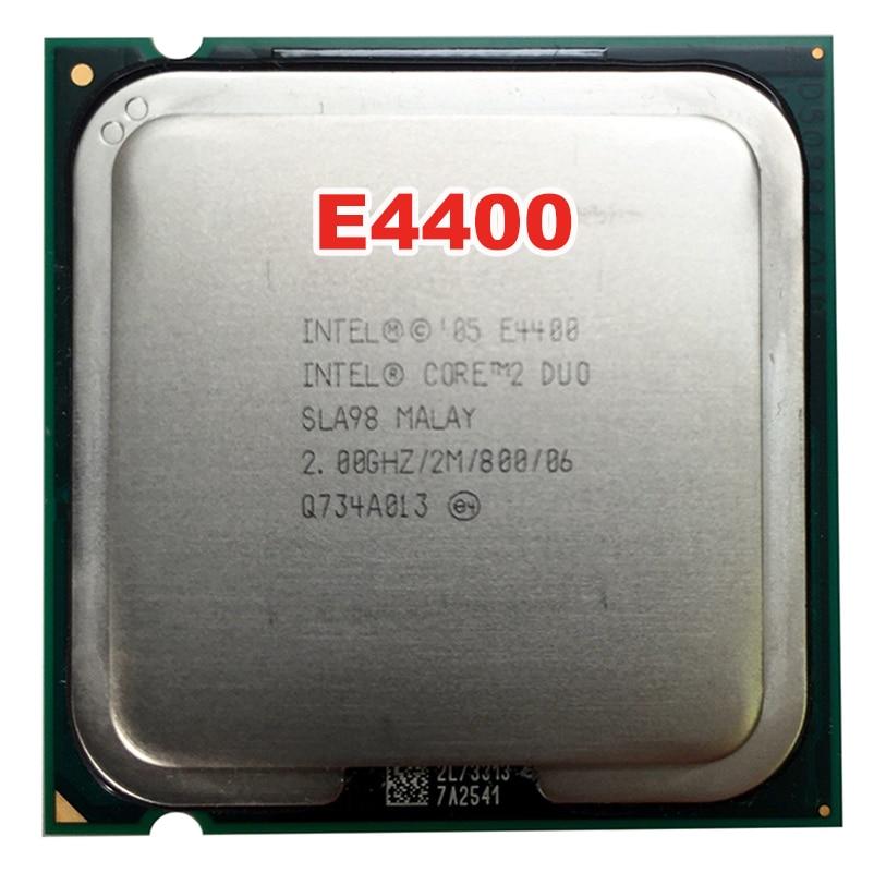 INTEL Core 2 Duo DUAL CORE E4400  Socket LGA 775 CPU Processor (2Ghz/ 2M /800MHz) 65W