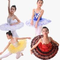 Professional Ballet Tutus Child Swan Lake Costumes Blue Red White Tutu Skirt Children Kids Sequins Lace Ballet Tutu For Girls