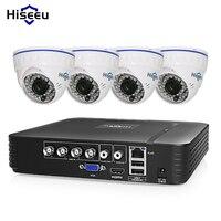 Hiseeu CCTV Camera System 720P/1080P AHD DVR Kit 4 Channel dome home security cameras de seguridad IR day/night HD video 1TB HDD